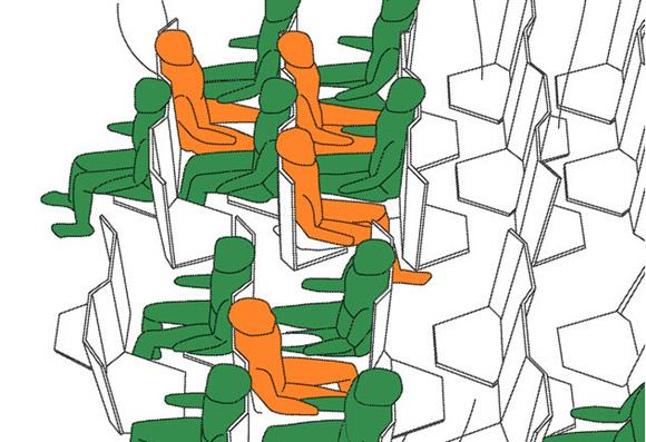 设计了一组飞机客舱座椅