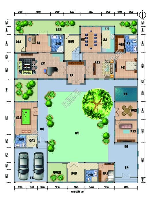 农村9米x13米平面图