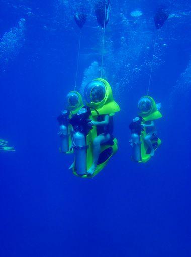 火柴棒粘贴画海底世界