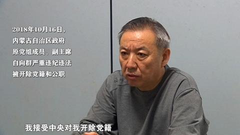 内蒙古自治区政府原副主席白向群被双开 中纪委公开现场视频